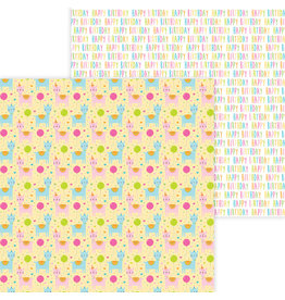 DOODLEBUG Doodlebug hey cupcake party animals double-sided cardstock