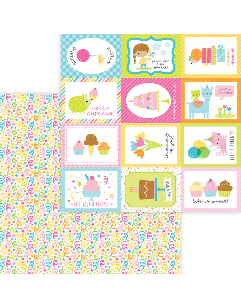 DOODLEBUG Doodlebug hey cupcake birthday bash double-sided cardstock