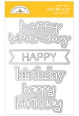 DOODLEBUG Doodlebug happy birthday doodle cuts