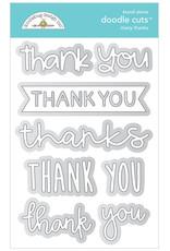 DOODLEBUG Doodlebug many thanks doodle cuts