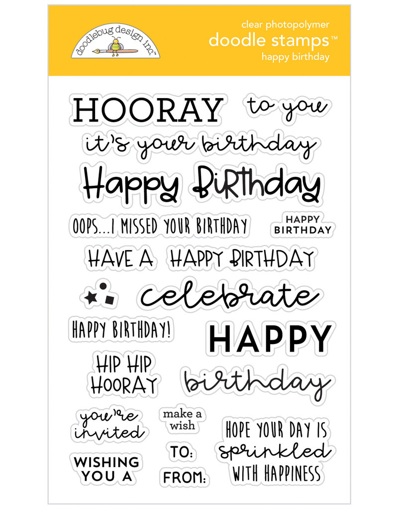DOODLEBUG DoodleBug Stamp Happy Birthday