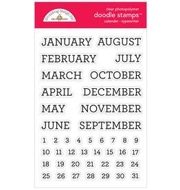 DOODLEBUG DoodleBug Stamp Calendar - Typewriter