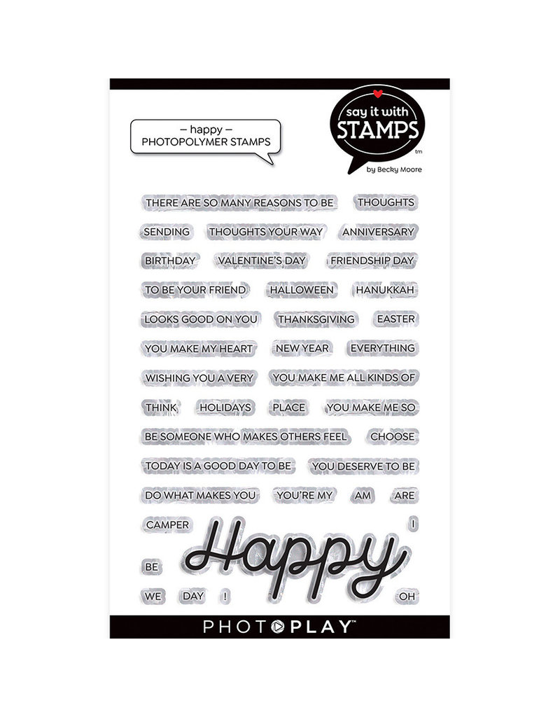Photoplay PP Happy 4x6 Stamp