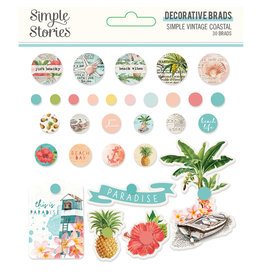 simple stories Simple Vintage Coastal : Decorative Brads