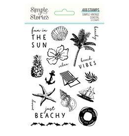 simple stories Simple Vintage Coastal : Stamps