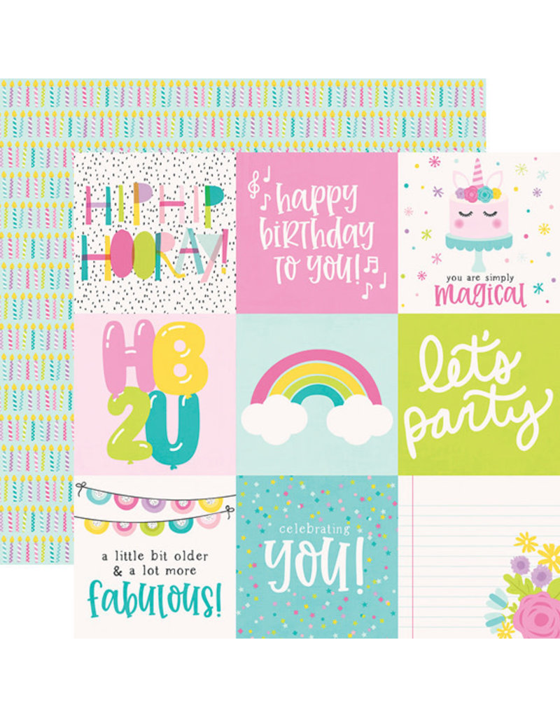 simple stories SS Magical Birthday  Paper: 4x4 Elements