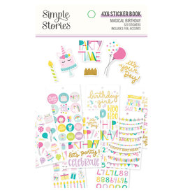 simple stories SS Magical Birthday : 4x6 Sticker Book