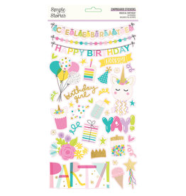 simple stories SS Magical Birthday : 6x12 Chipboard