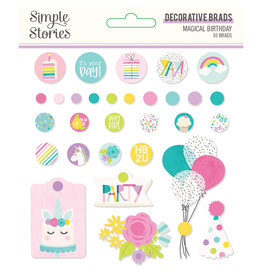 simple stories SS Magical Birthday : Decorative Brads