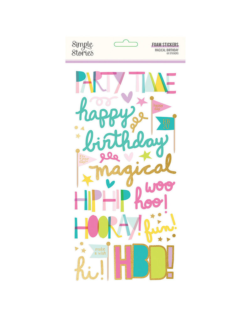 simple stories SS Magical Birthday : Foam Stickers