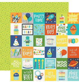 simple stories SS Birthday Blast Paper: 2x2 Elements
