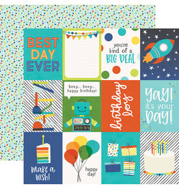 simple stories SS Birthday Blast Paper: 3x4 Elements