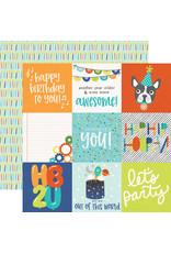simple stories SS Birthday Blast Paper: 4x4 Elements