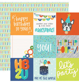 simple stories SS Birthday Blast Paper: 4x4 Elements