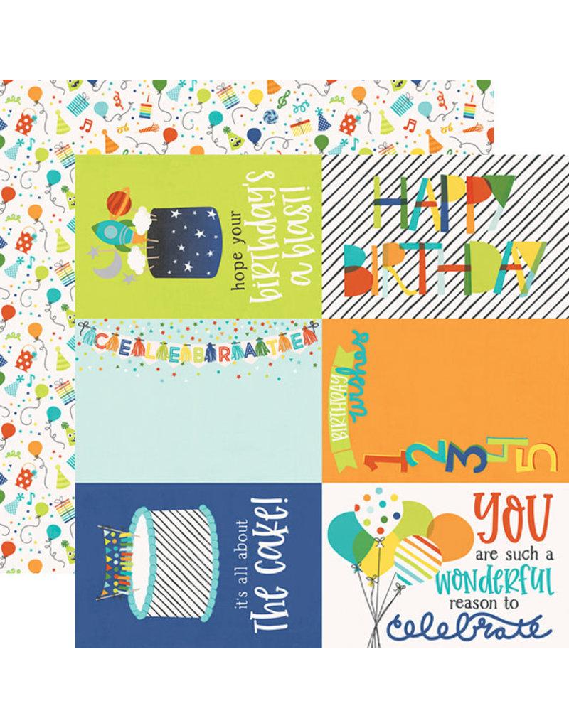 simple stories SS Birthday Blast Paper: 4x6 Elements