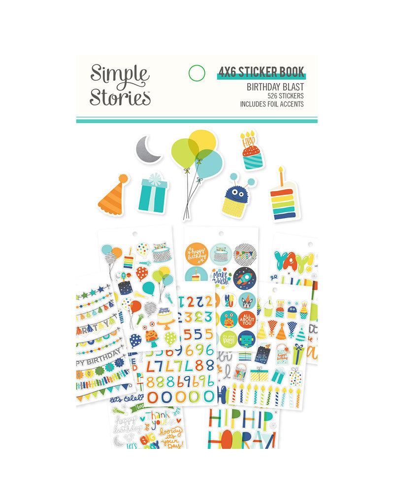 simple stories SS Birthday Blast: 4x6 Sticker Book