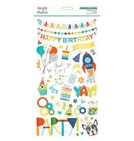 simple stories SS Birthday Blast: 6x12 Chipboard
