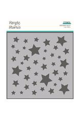 simple stories SS Birthday Blast: 6x6 Stencil-Stars