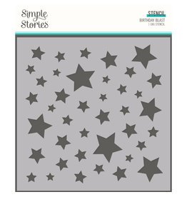 simple stories SS Birthday Blast: 6x6 Stencil-Stars