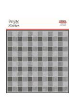 Simple Stories SS Summer Farmhouse: 6x6 Stencil-Gingham
