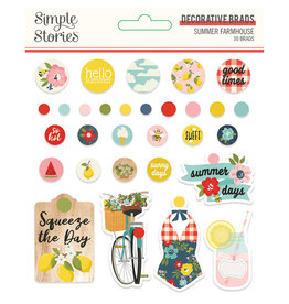 simple stories SS Summer Farmhouse: Decorative Brads