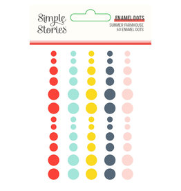 simple stories SS Summer Farmhouse: Enamel Dots