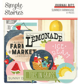 simple stories SS Summer Farmhouse: Journal Bits & Pieces