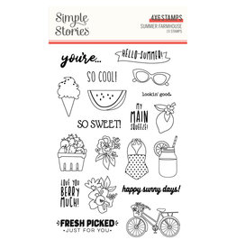 simple stories SS Summer Farmhouse: Stamps