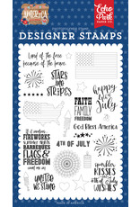 Echo Park Echo Park America: Stars & Stripes Stamp Set