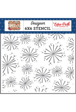 Echo Park Echo Park America: Festive Fireworks Stencil