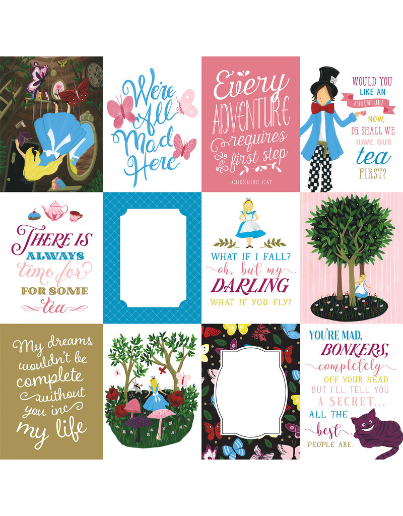 Echo Park EP Alice in Wonderland 2 Paper: 3X4 Journaling Cards