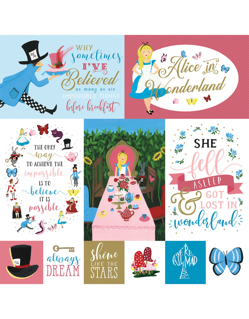 Echo Park EP Alice in Wonderland 2 Paper: Multi Journaling Cards
