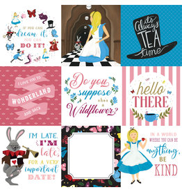Echo Park EP Alice in Wonderland 2 Paper: 4X4 Journaling Cards