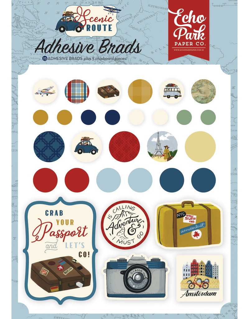 Echo Park EP Scenic Route:  Adhesive Brads