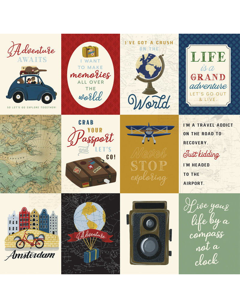 Echo Park EP Scenic Route Paper: 3x4 Journaling Cards