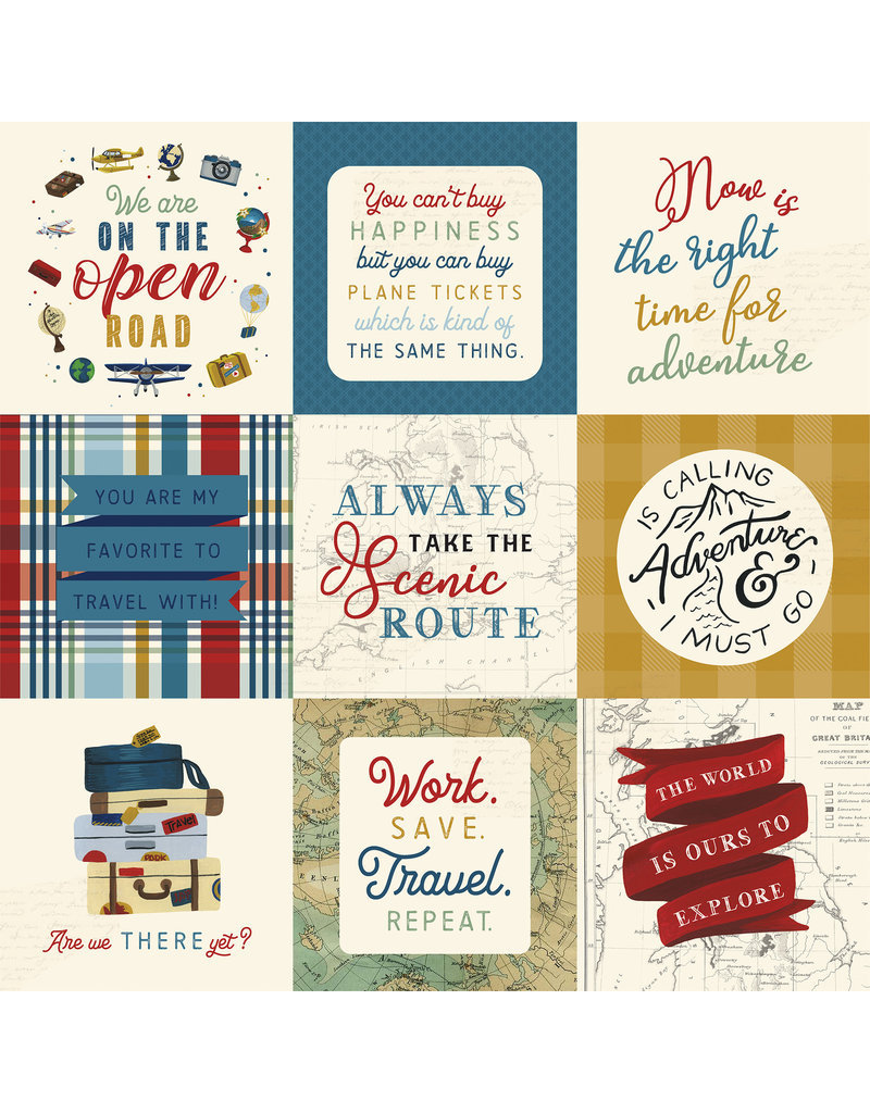 Echo Park EP Scenic Route Paper: 4x4 Journaling Cards
