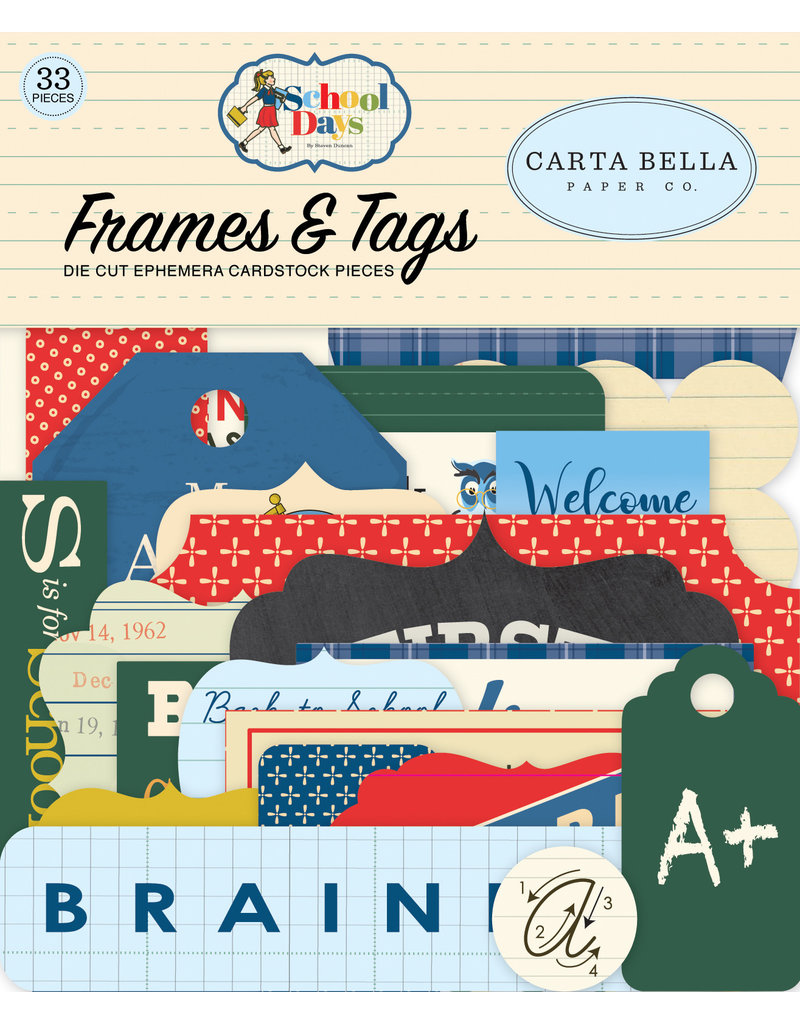 Carta Bella CB School Days:  Frames & Tags