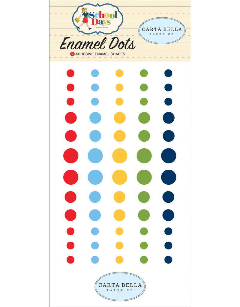 Carta Bella CB School Days:  Enamel Dots