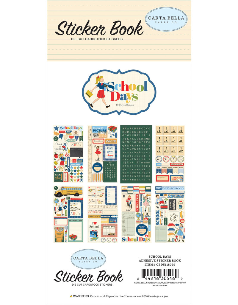 Carta Bella CB School Days:  Sticker Book