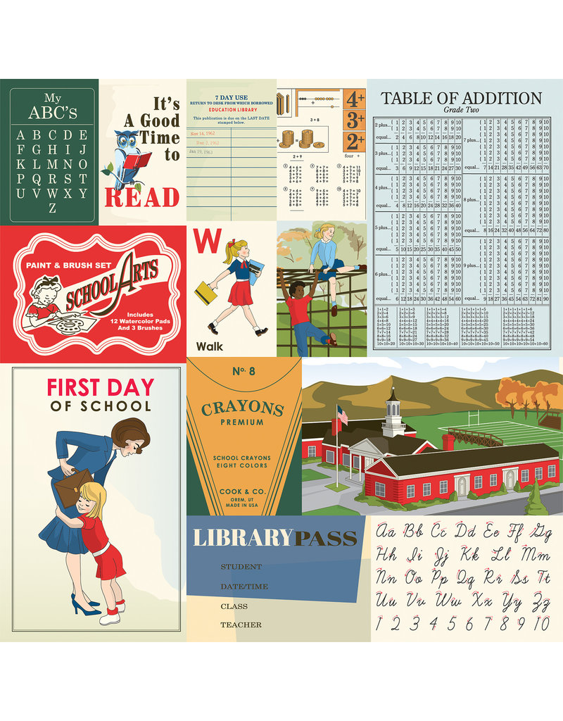 Carta Bella CB School Days: Multi Journaling Cards