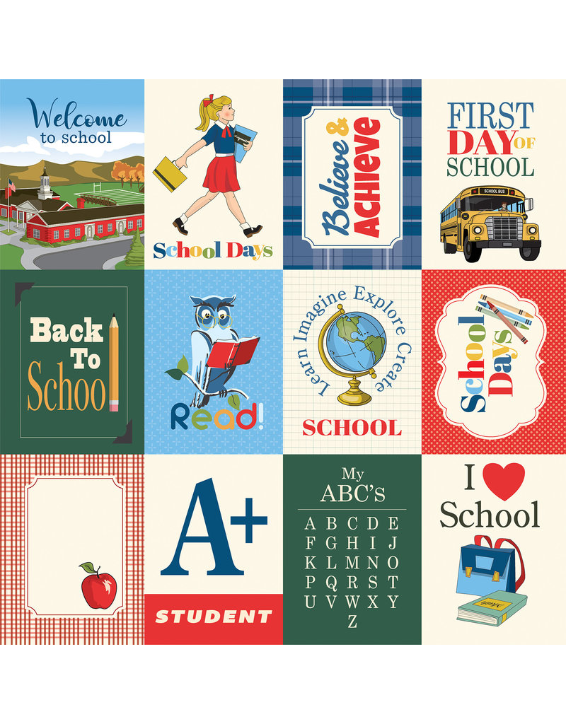 Carta Bella CB School Days: 3X4 Journaling Cards