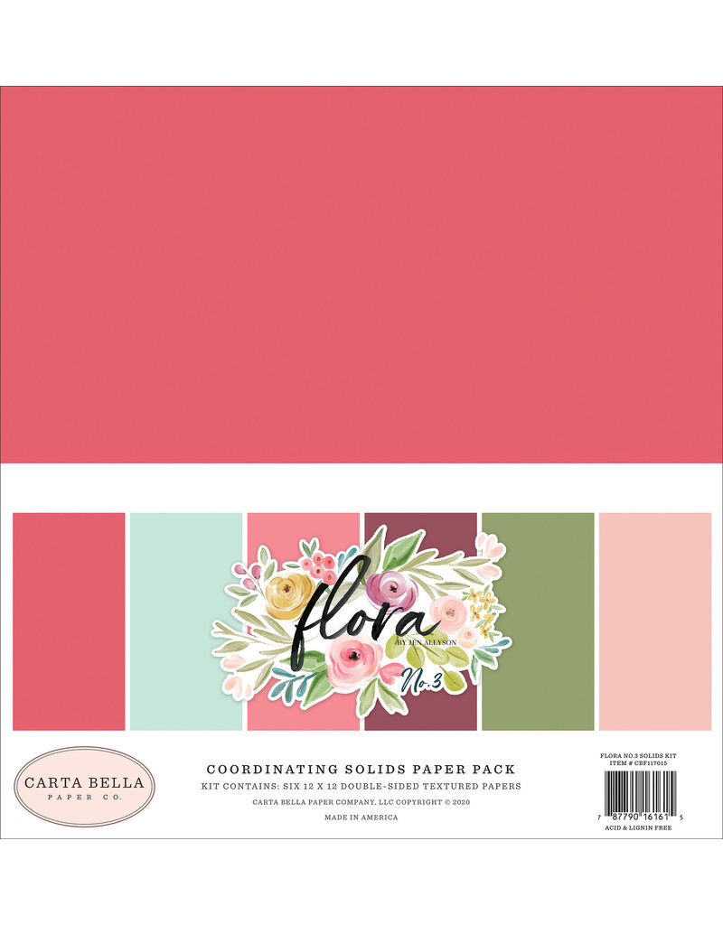 Carta Bella CB Flora 3: Solids Kit