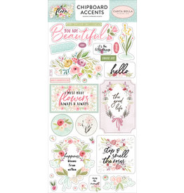 Carta Bella CB Flora 3: 6x13 Chipboard Accents