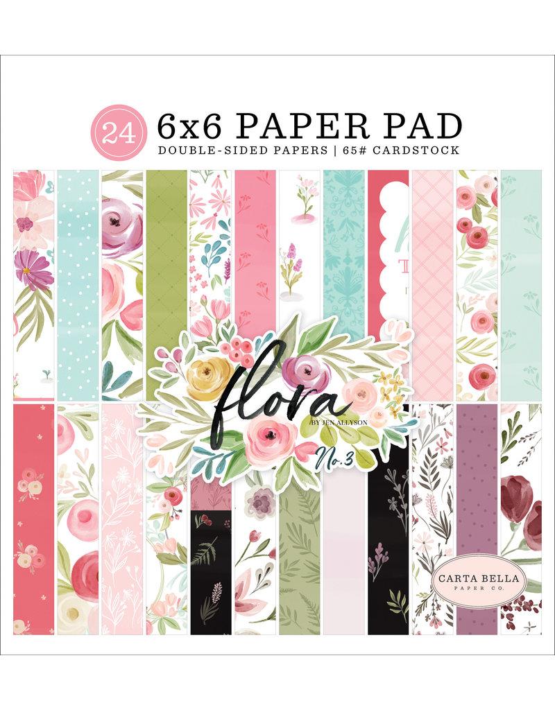 Carta Bella CB Flora 3: 6x6 Paper Pad