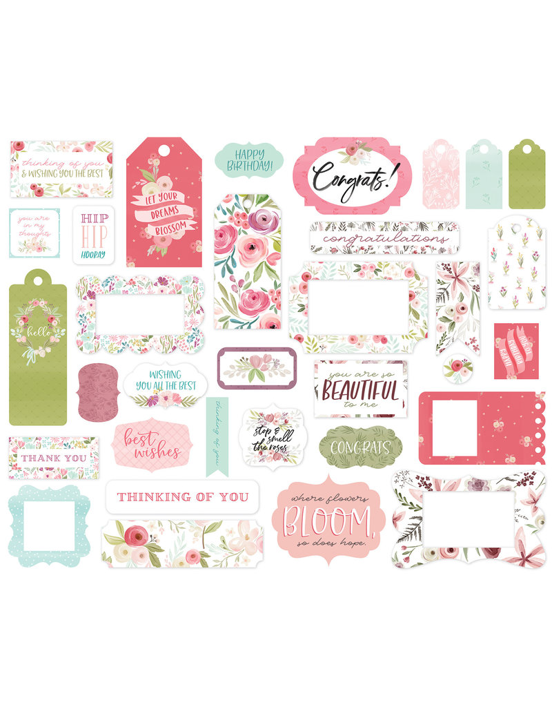 Carta Bella CB Flora 3: Frames & Tags