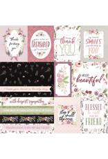 Carta Bella CB Flora 3 Paper: Elegant Journaling Cards