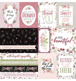 Carta Bella CB Flora 3 Paper: Elegant Journaling Cards