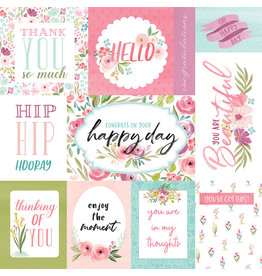 Carta Bella CB Flora 3 Paper: Bright Journaling Cards