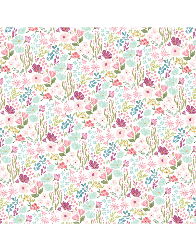 Carta Bella CB Flora 3 Paper: Bright Small Floral