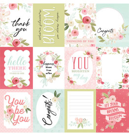 Carta Bella CB Flora 3 Paper: Subtle Journaling Cards